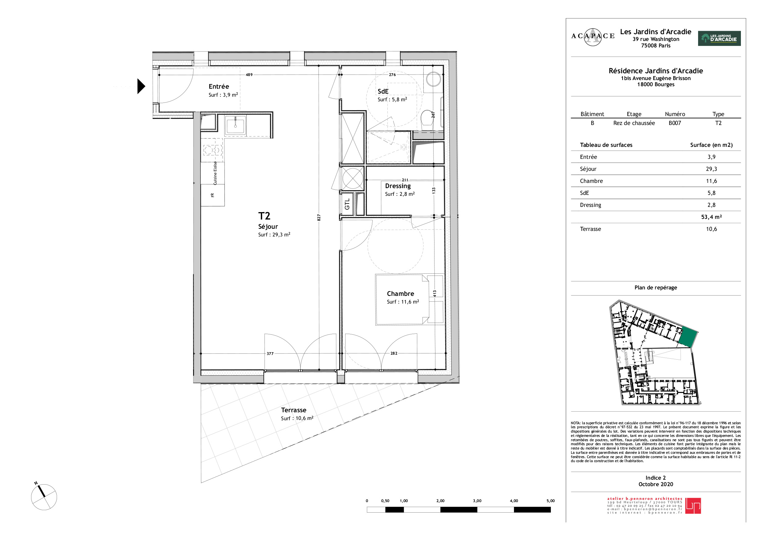 Plan de vente Appartement B007