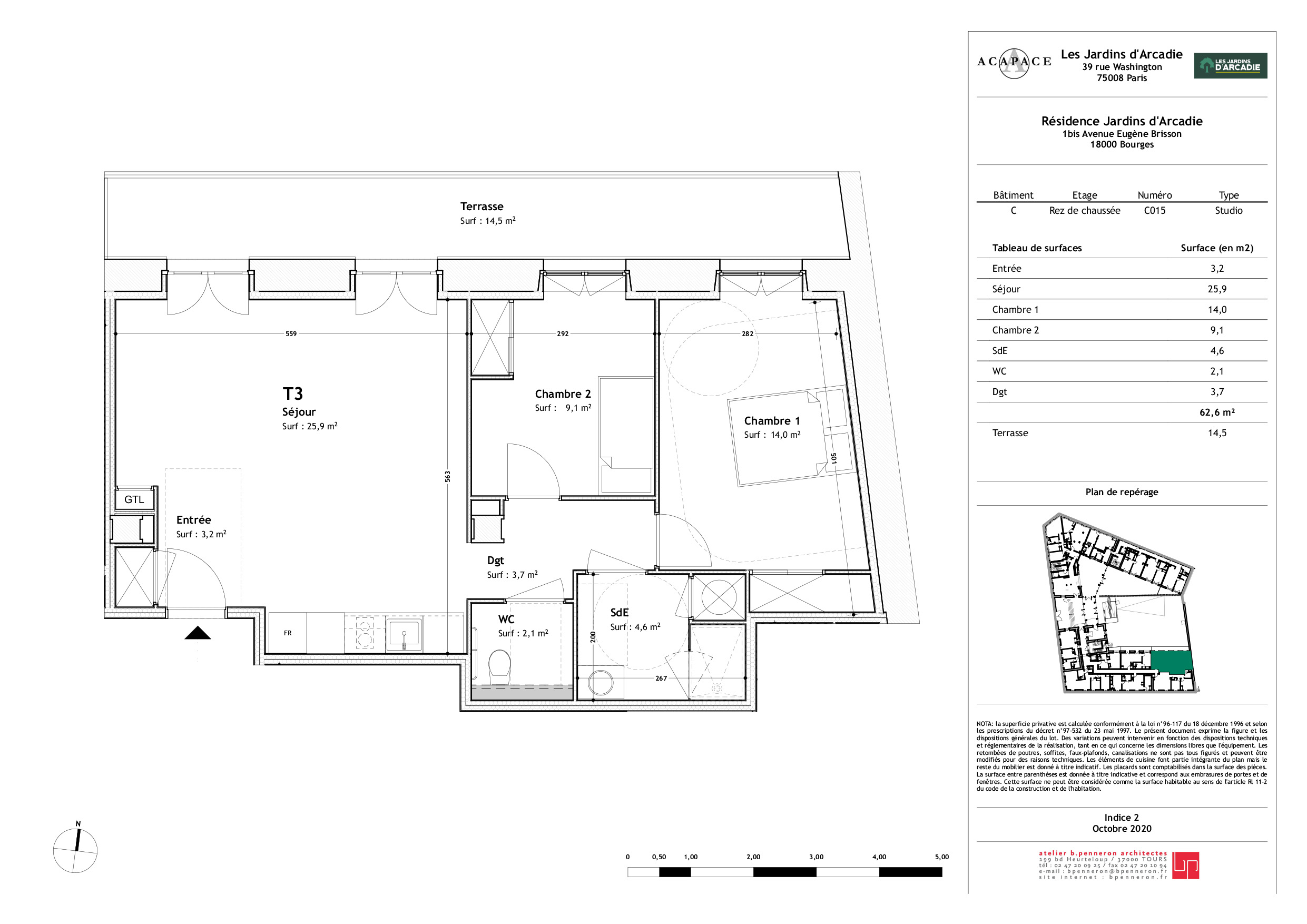 Plan de vente Appartement C015